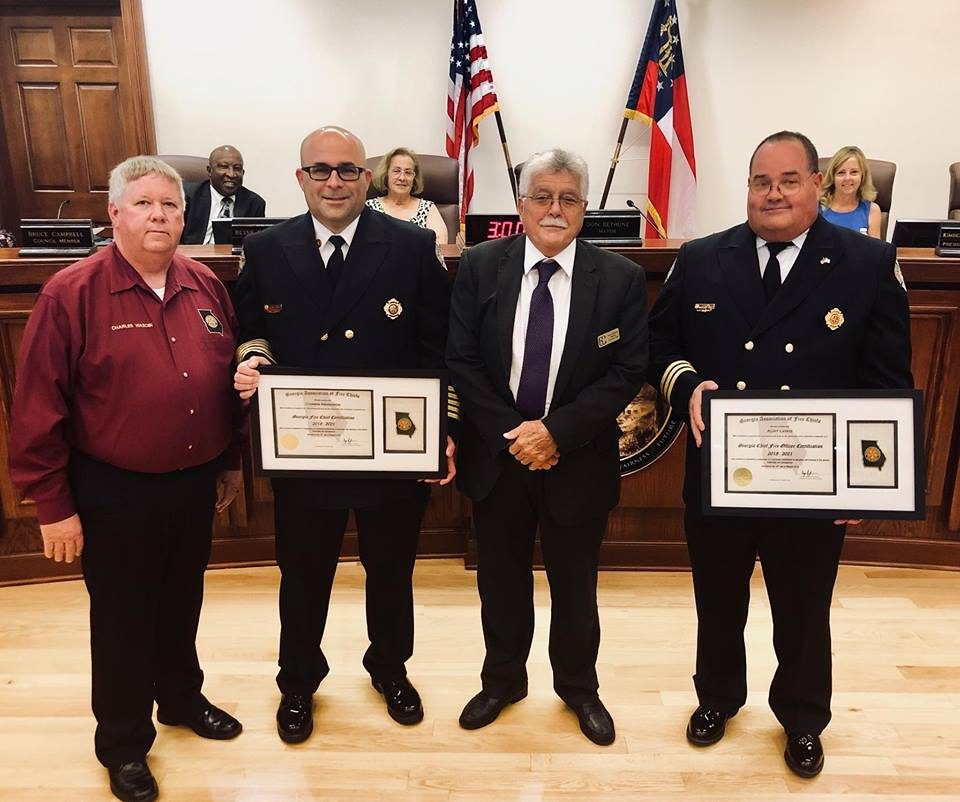 Garden City Fire Chiefs Awarded State Certification
