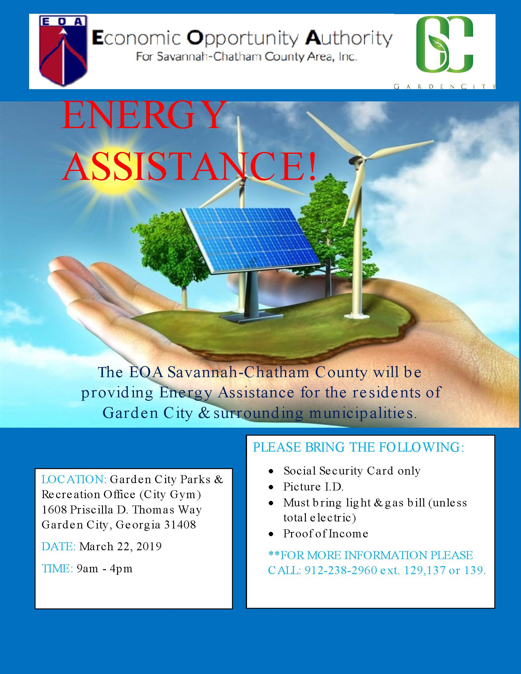 EOA Offers FREE Energy Assistance Day to Garden City Residents!