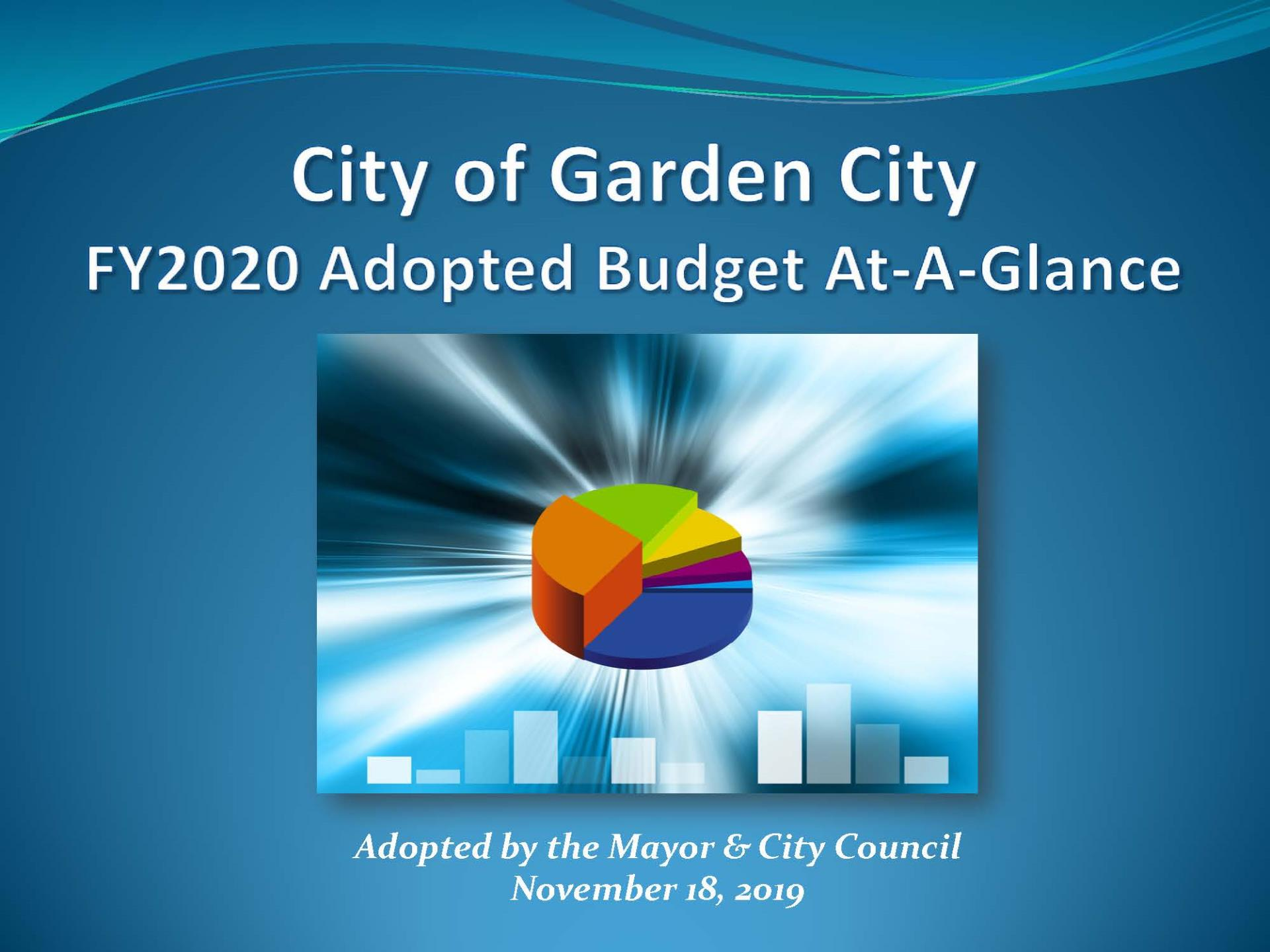 Check out Garden City's FY2020 Adopted Budget At-A-Glance!