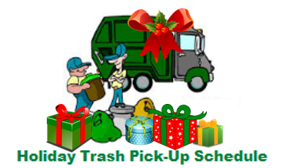 Trash & Recycling Holiday Pickup Schedule