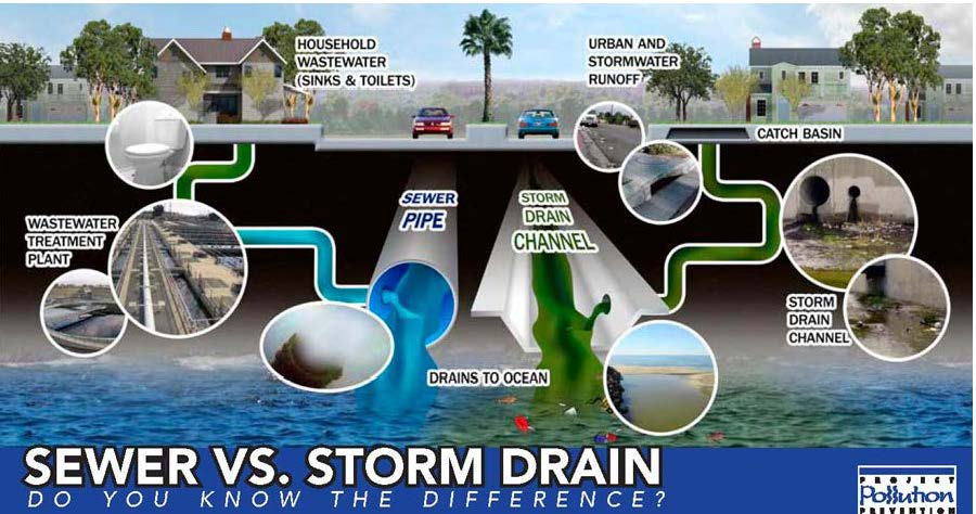 Difference Between Storm and Sewer